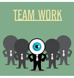 The blue eye leadership with teamwork vector image