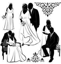 Wedding pairs vector