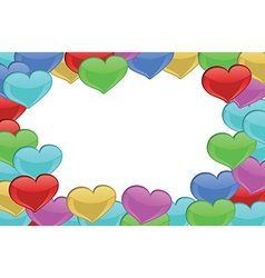 Heart-designed border vector image