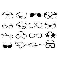 Eye glasses icons set vector