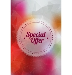 Vintage sale special offer sticker vector