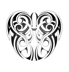 Maory style tattoo vector