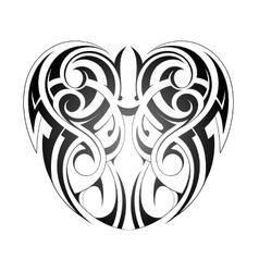 Maory style tattoo vector