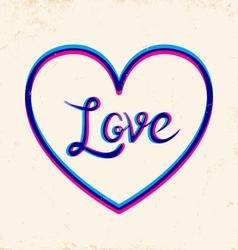 Love 3d vector