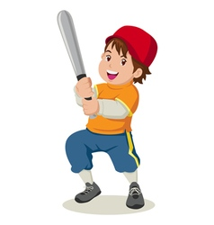 Baseball boy vector