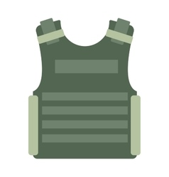 Bulletproof vest isolated vector