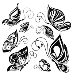 Artistic pattern with butterflies suitable for a vector
