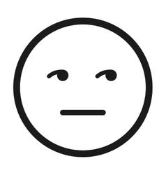 Face emoticon isolated icon design vector