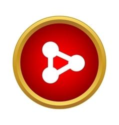 Molecule icon simple style vector