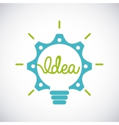 Gear and bulb icon idea design graphic vector