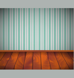 Background empty room with wooden floor or vector