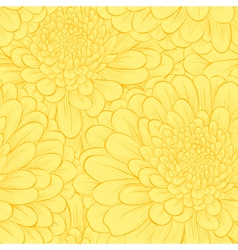 Beautiful seamless pattern with hand-drawn flowers vector