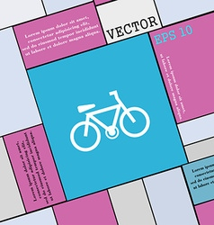 Bicycle icon sign modern flat style for your vector