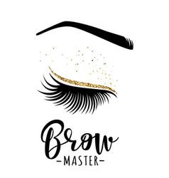 Brow master logo vector