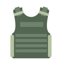 Bulletproof vest isolated vector