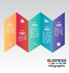 Business Infographic Step Presentation vector image vector image