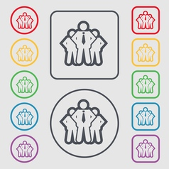 business team icon sign symbol on the Round and vector image