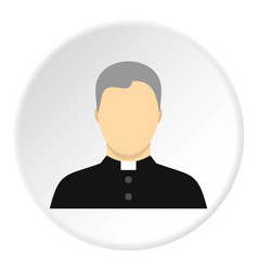 catholic priest icon circle vector image