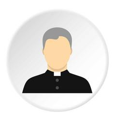 Catholic priest icon circle vector