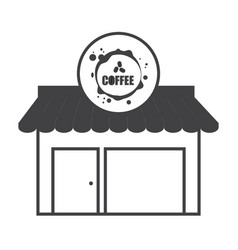 Coffee shop building structure market vector