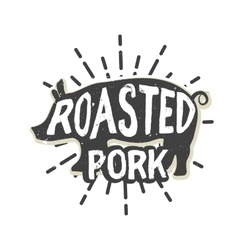 Creative logo design with pork vector