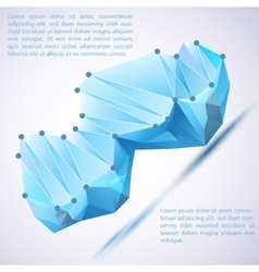 Cristal prism for your vector image vector image