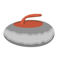 Curling stone cartoon vector