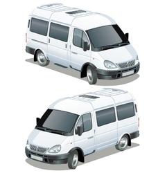 delivery cargo van vector image vector image
