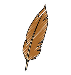 feather ink isolated vector image