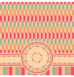 geometrical retro card vector image vector image