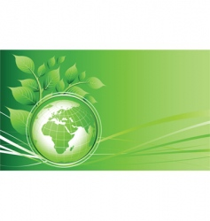 green earth vector image