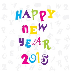 Happy new year 2015 doddle design vector