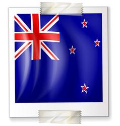 Icon design for flag of new zealand vector
