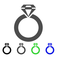 jewelry ring icon vector image