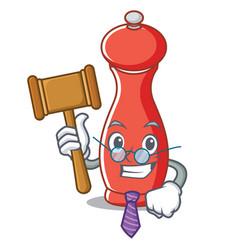 Judge pepper mill character cartoon vector