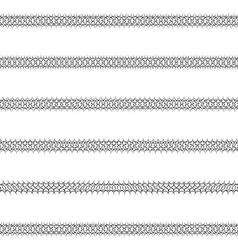 Ornamental text line divider design set vector