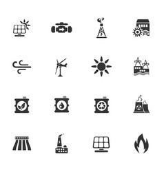 Power generation industry icons vector
