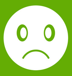 sad emoticon green vector image