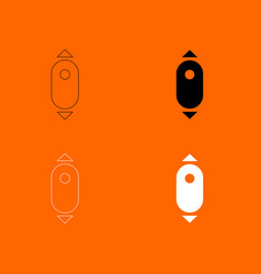 Scroll down computer mouse icon vector