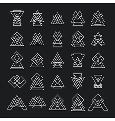 Set of 25 trendy geometric shapes hipster retro vector
