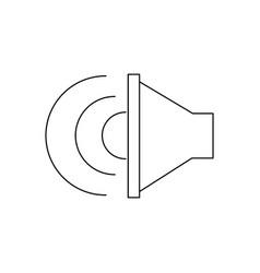 sound music volume speaker stereo symbol vector image