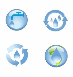 source water protection icon symbol vector image vector image