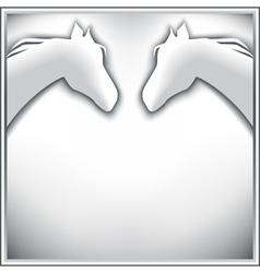 Stylish background with horses vector image