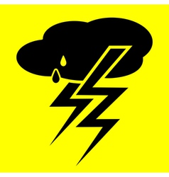 symbol thunderstorm vector image vector image