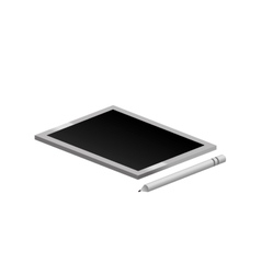 Tech touch tablet with pen vector