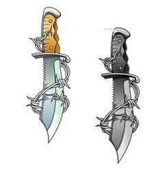 Vintage dagger vector