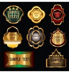 vintage wine labels vector image vector image