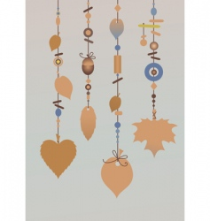 wind chimes vector image