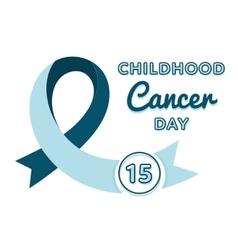 World childhood cancer day emblem vector