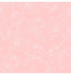 Pink roses vector